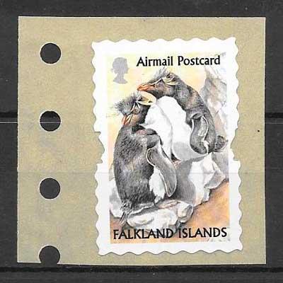 colección sellos fauna Falkland Island