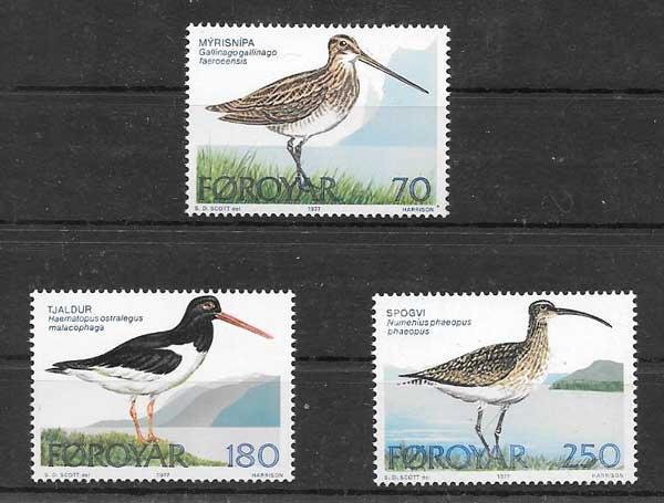 Sellos fauna de la Isla Feroe 1977