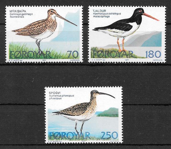 sellos fauna Feroe 1977
