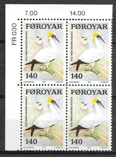 filatelia fauna Feroe 1978