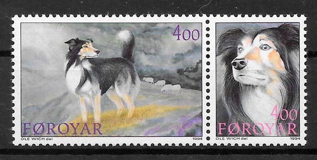 filatelia perros Feroe 1994