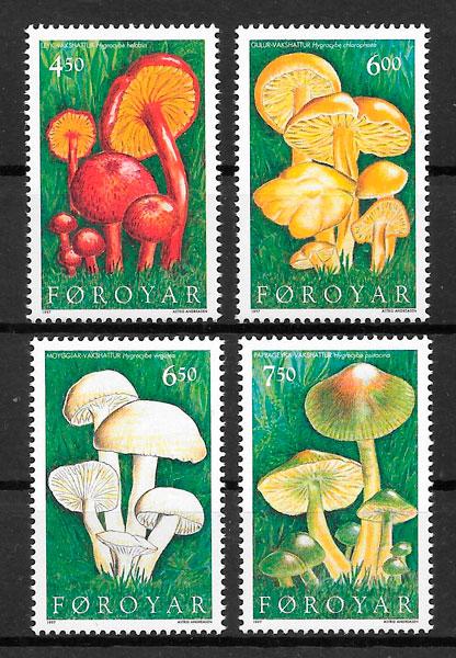 sellos setas Feroe 1997