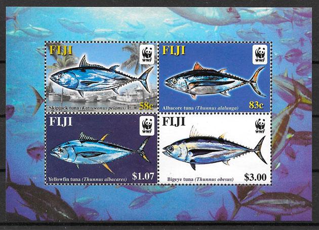 sellos wwf Fidji 2004