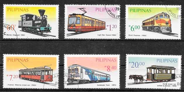 Filatelia Filipinas trenes 1984