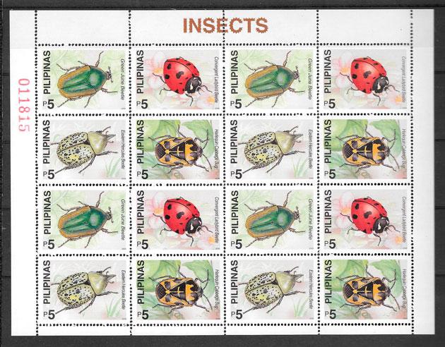 sellos fauna Filipinas 2000
