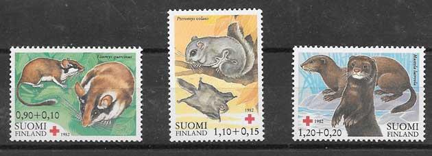 colección sellos Cruz Roja Finlandia 1982