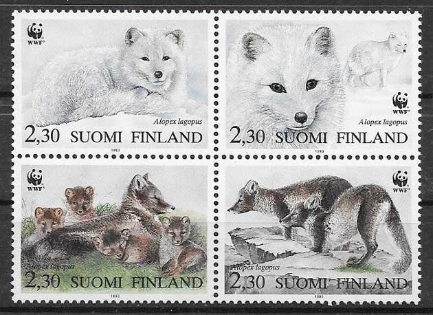 sellos fauna wwf Finlandia 1993