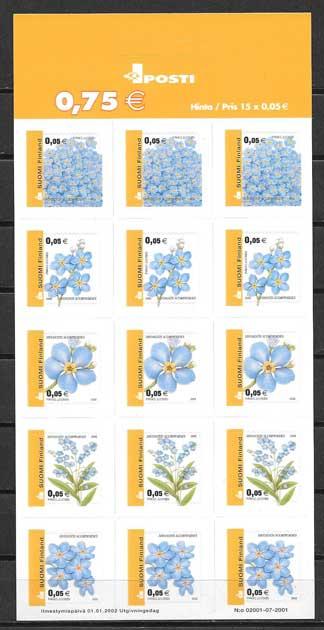 Filatelia Sellos serie corriente de flores nacionales