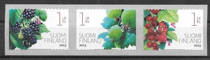 Filatelia flora de Finlandia 2013