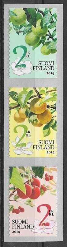 Filatelia flora Finlandia 2014