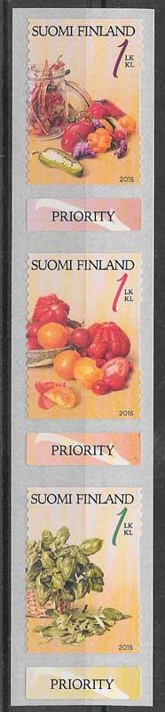 colección sellos flora Finlandia 2015