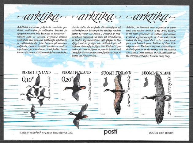 filatelia colección fauna Finlandia 2017