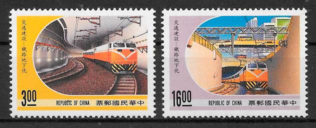 sellos trenes Formosa 1989