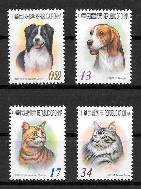 filatelia colección gatos y perros Formosa 2006