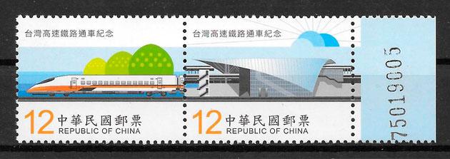 colección sellos trenes Formosa 2006