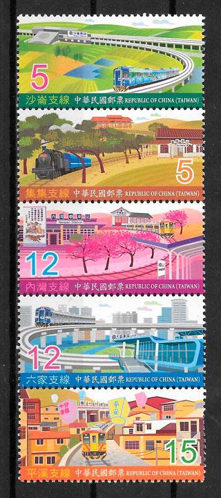 filatelia colección trenes Formosa 2011