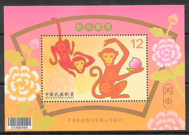 colección sellos año lunar Formosa 2015