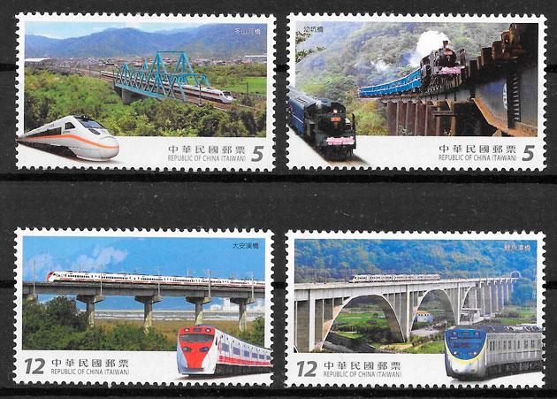 filatelia colección trenes Formosa 2017