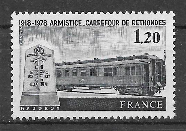 filatelia colección trenes 1978 Francia