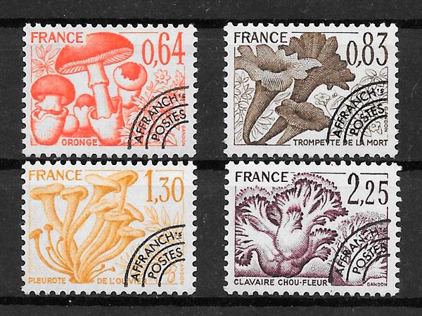 filatelia colección setas Francia 1979