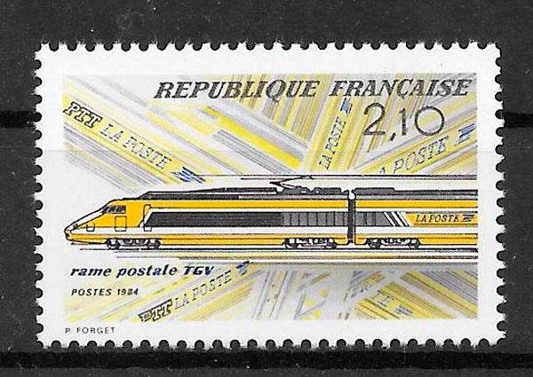 filatelia colección Francia 1984