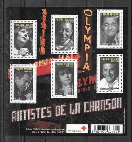 Estampillas Francia-2011-01