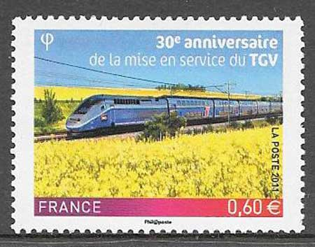 Sellos Francia trenes 2011