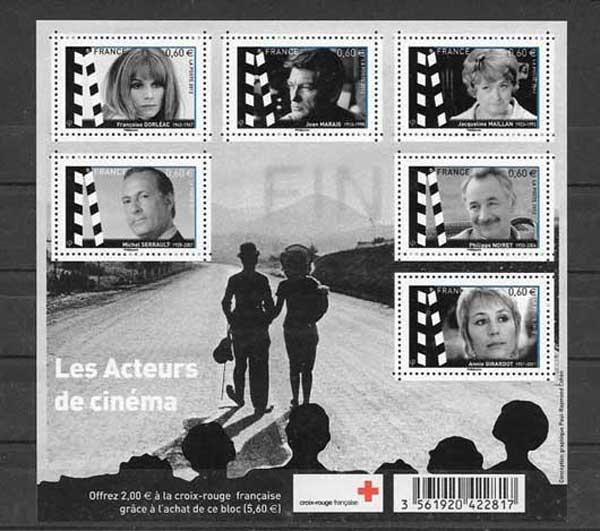 Colección sellos Francia-2012-01