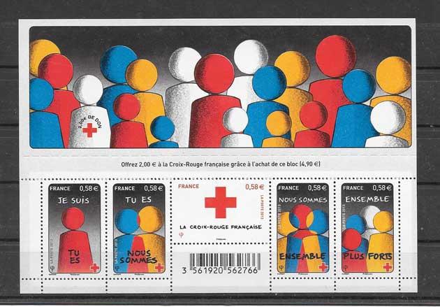 Colección sellos hojita homenaje a la solidaridad
