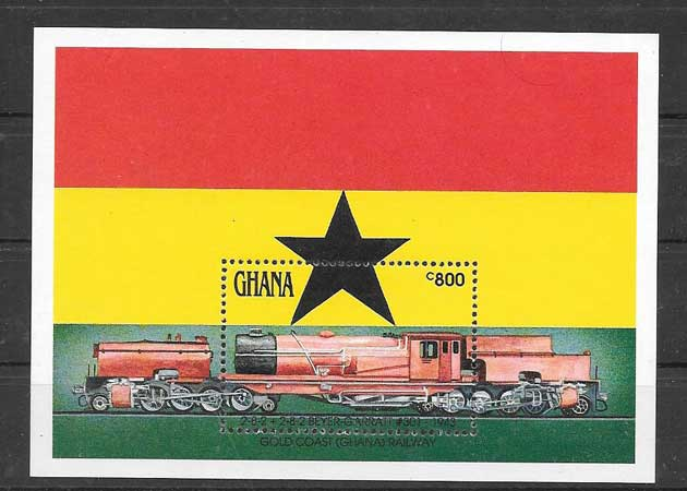Estampillas transporte ferroviario 1992