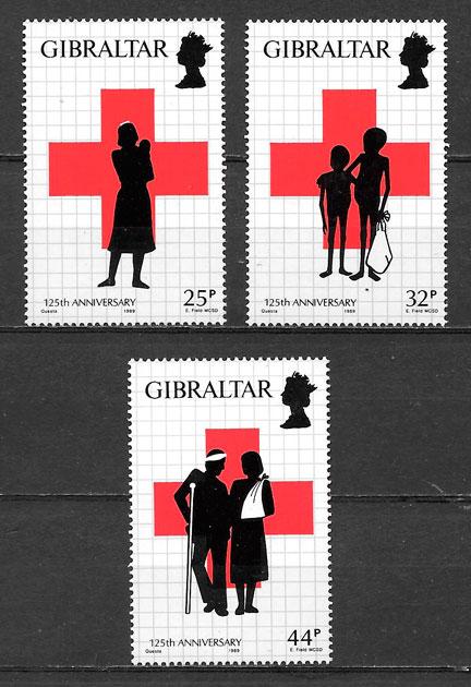 filatelia cruz roja Gibraltar 1989