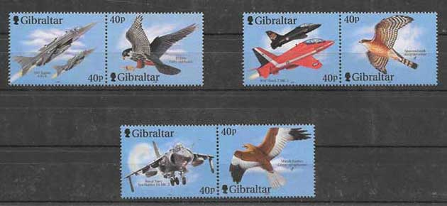 Colección sellos fauna diversa Gibraltar-2001-01
