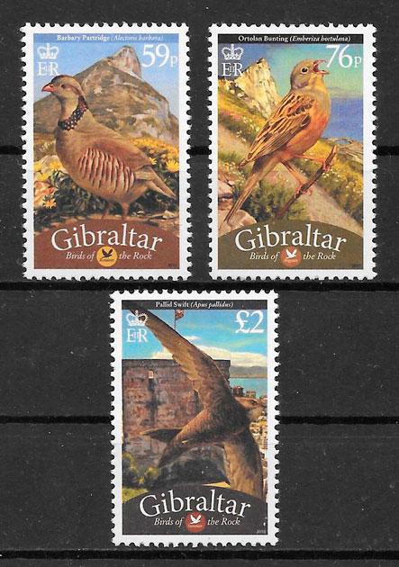 filatelia colección fauna Gibraltar 2010
