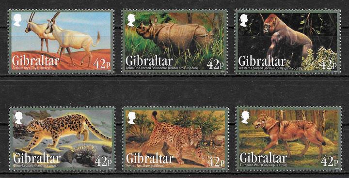 filatelia colección fauna Gibraltar 2012