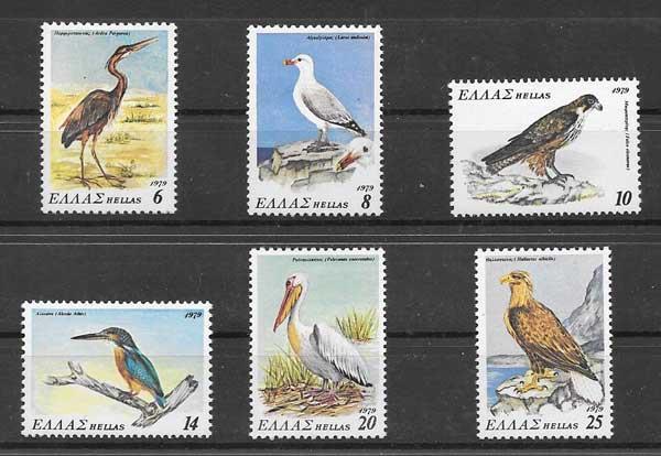 Filatelia sellos Fauna diversa de Grecia