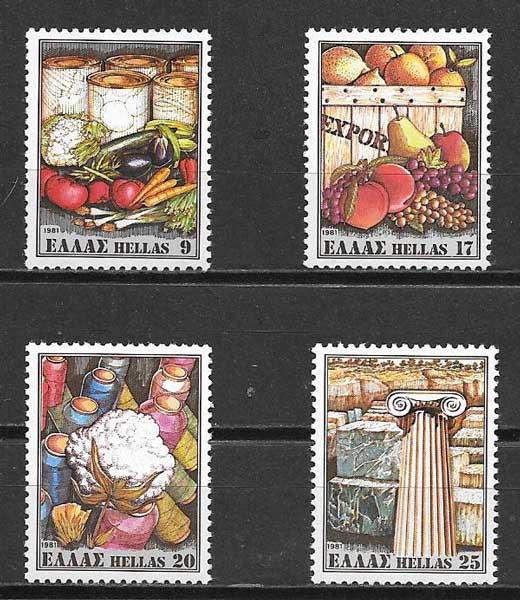 sellos frutas Grecia 1981