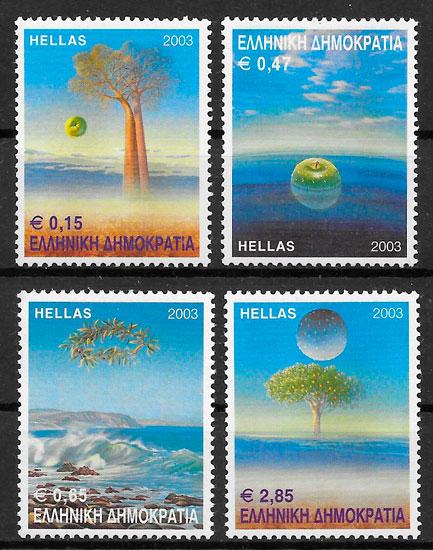 filatelia colección flora Grecia 2003