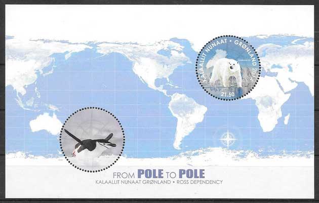 filatelia fauna Groenlandia 2014