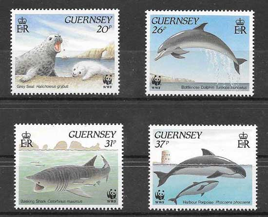 Estampillas fauna marina protegida 1990