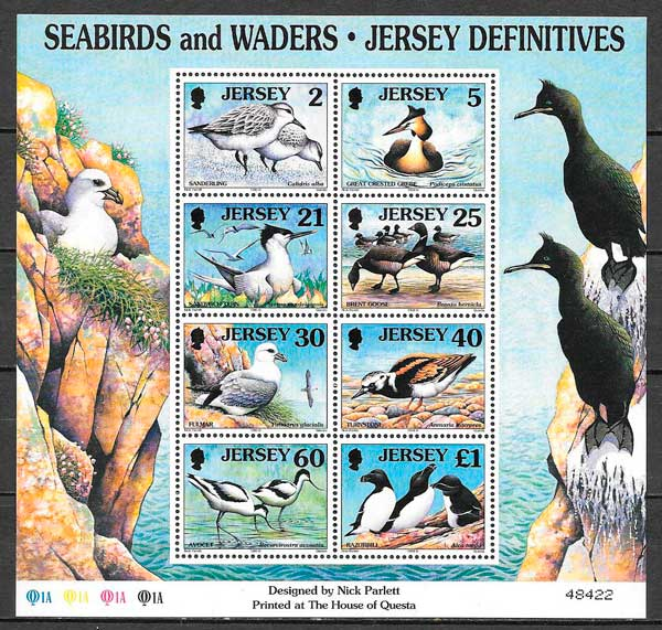 sellos fauna Jersey 1998