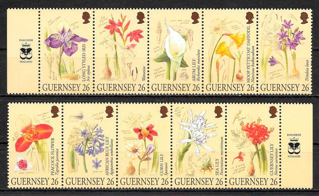 sellos flora Guersey 2000