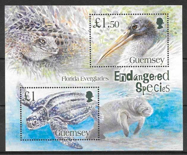filatelia fauna Guersey 2006