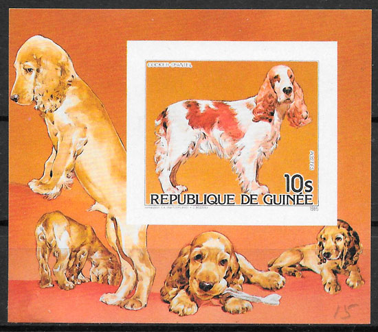 filatelia perros Guinea 1985