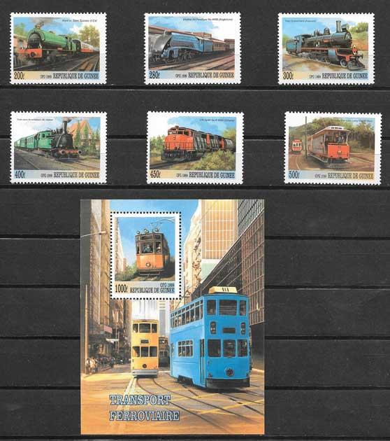 Estampillas transporte terrestre - locomotoras 1999