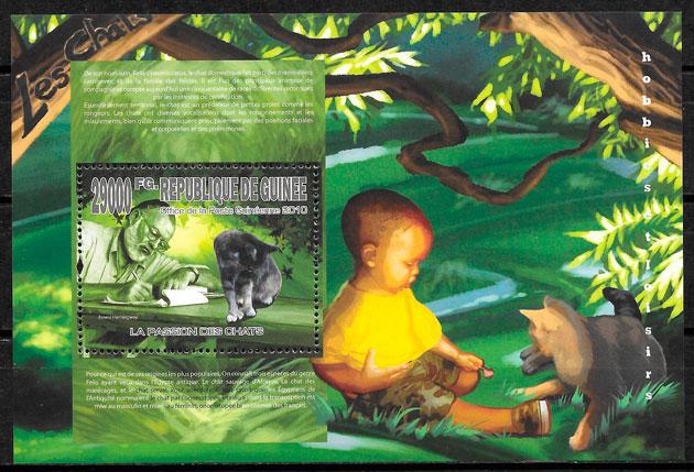 sellos gatos Guinea 2010