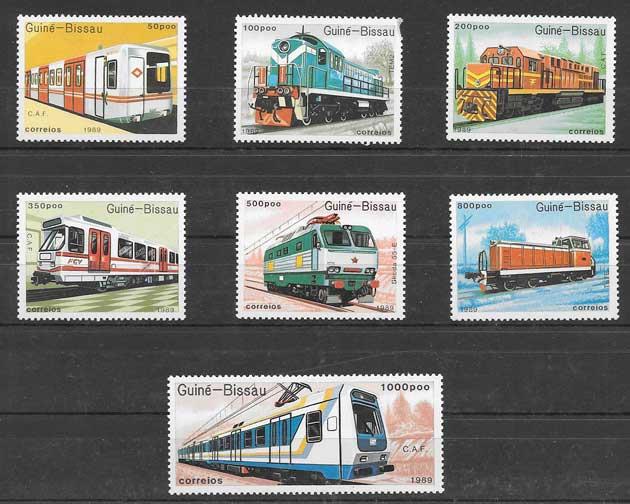 Colección sellos transportes ferroviario 1989