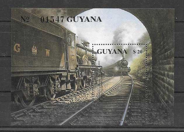 Colección sellos trenes del país 1999