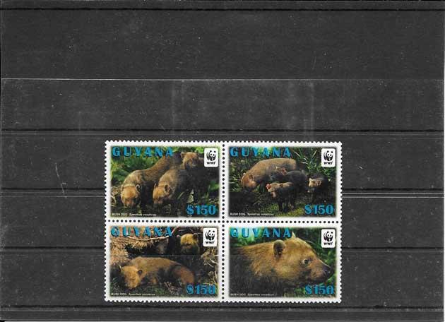 Filatelia sellos serie de fauna variada