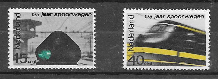 sellos colección trenes Holanda 1964