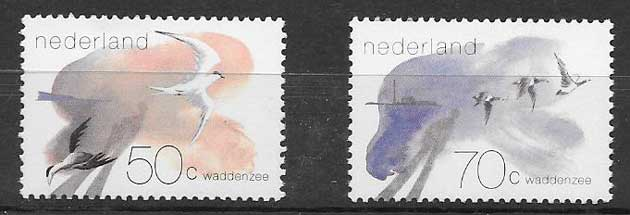 sellos fauna Holanda 1982